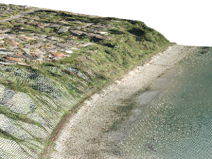 This pretty point cloud has been colorized with a raster.