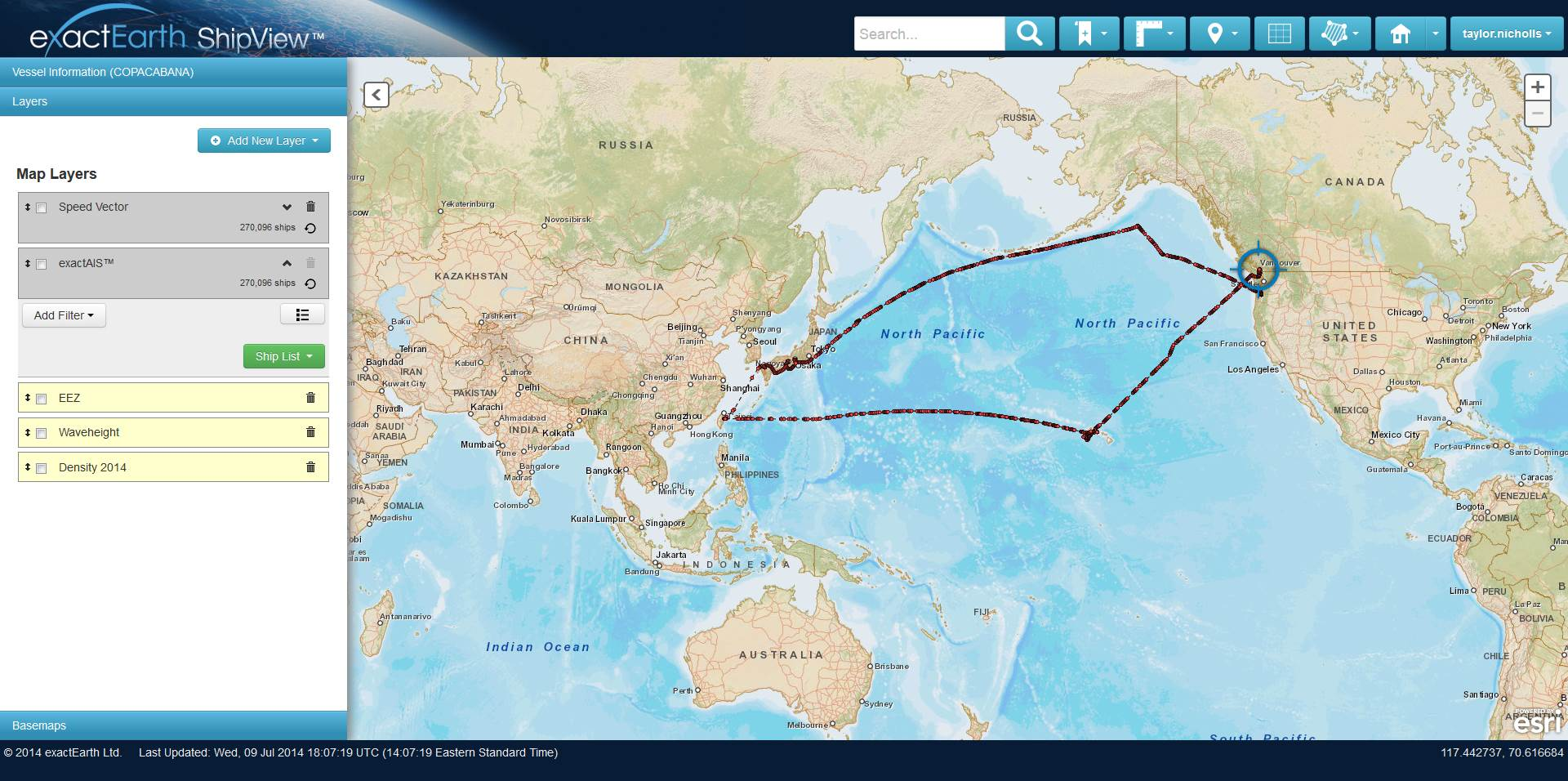 This 90-day historical track shows the exact routes taken across the Pacific. (Click to enlarge)