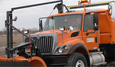 Systems installed on the plows are invisible to the driver.