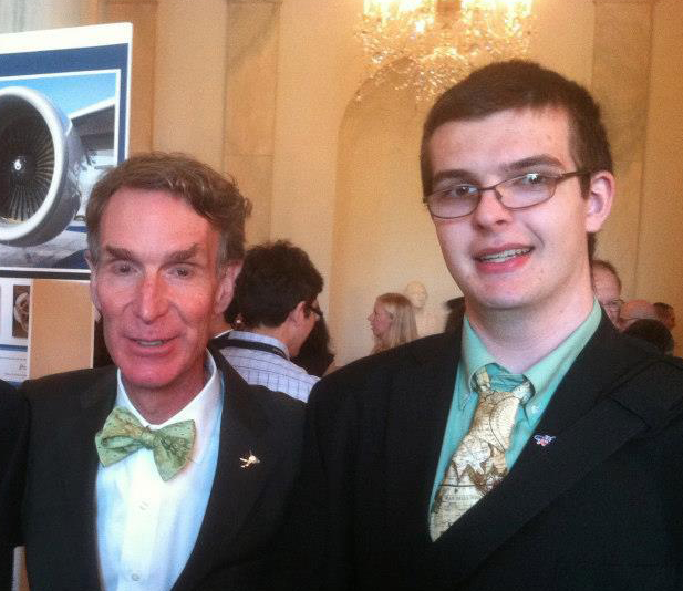 Hobnobbing with The Science Guy at the White House Science Fair (and sporting a map tie!).