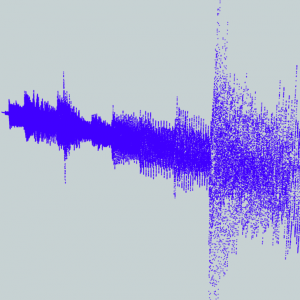 An audio file rendered as a point cloud in the FME Data Inspector.