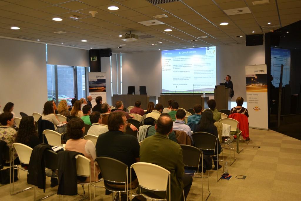 FMEWT Madrid: Life GISWaste presentation. Photo courtesy of Benjamin Quest, con terra.