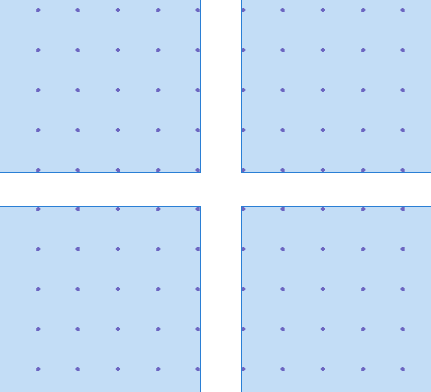 Before turning the multipoint geometries into polygons, resolve the gaps between them.