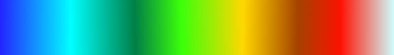 Color ramp as an RGB raster.