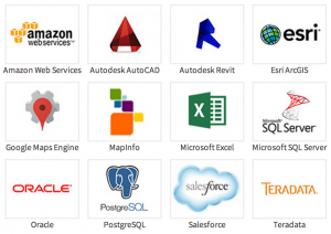 Popular database and web service logos
