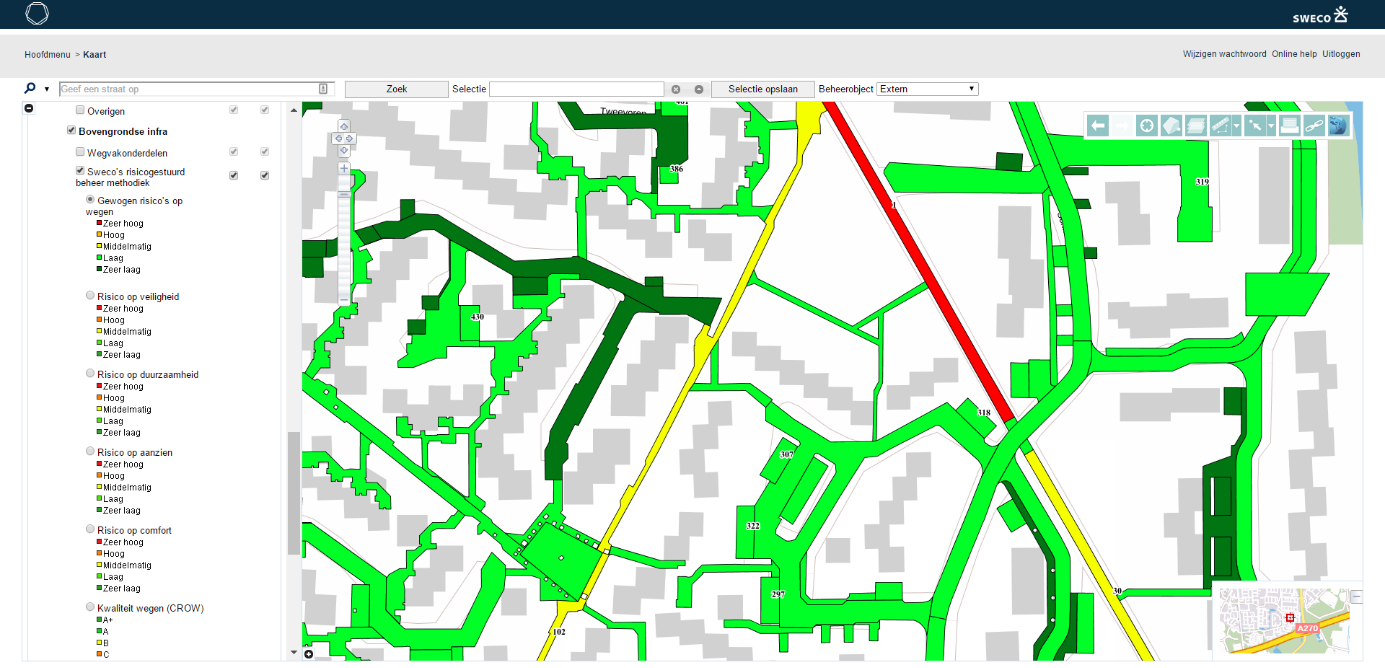 Gis Interface Obsurv With The Result Of The Analysis Created With Fme