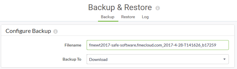Backup and Restore Dialog