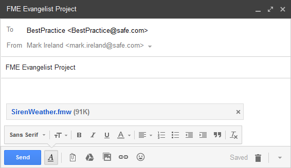 Best Practice Sending Email