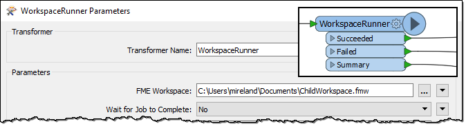 WorkspaceRunner parameters