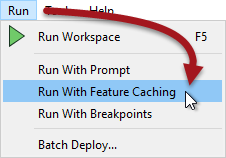 Turning on Feature Caching