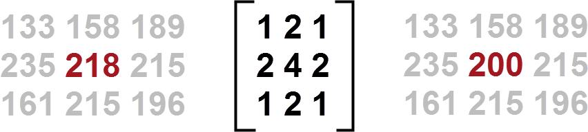 Basic raster convolution